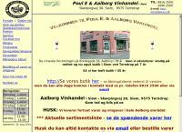 Aalborg Vinhandels webside