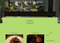 Hos Trine og Christians webside