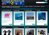 Dykkerbutikkens webside