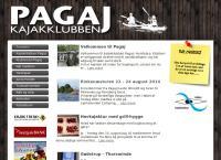 Kajakklubben Pagajs webside