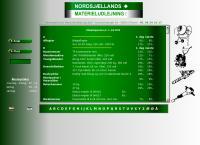 Nordsjællands Materieludlejnings webside