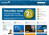 Nordeas webside